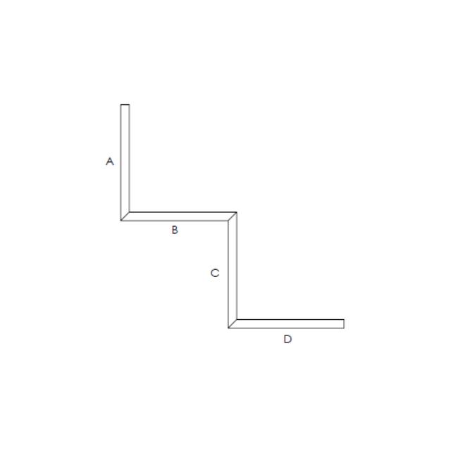 proiezione sagomato in cartongesso a 2 scalini