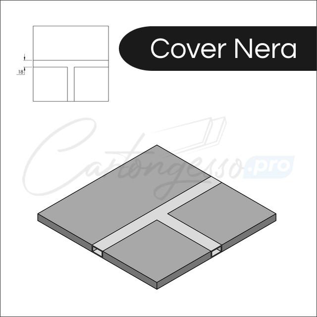 profilo led integrato cover nera